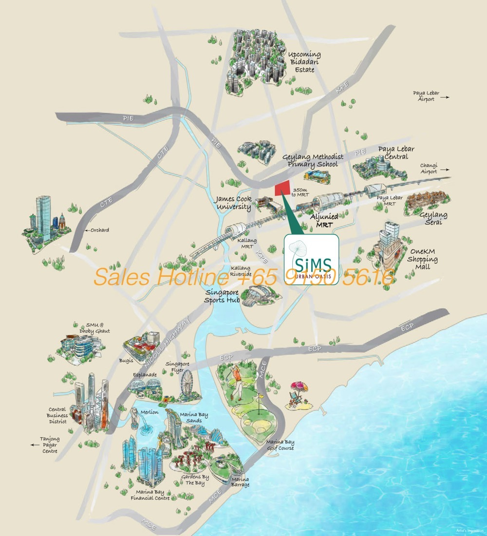 Sims Urban Oasis - Location Map