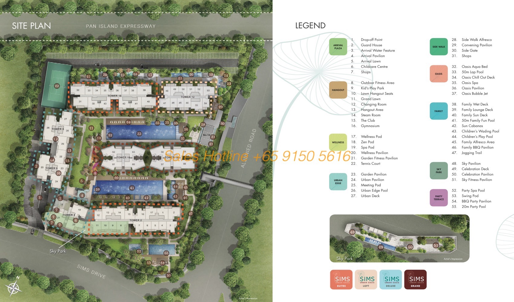 Sims Urban Oasis - Site Plan