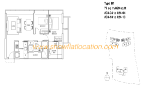 Skyline Residences Floor Plan - 2 bedroom
