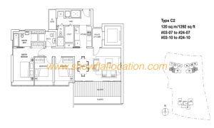 Skyline Residences Floor Plan - 3 bedroom (2)