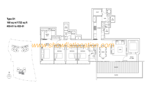 Skyline Residences Floor Plan - 4 bedroom