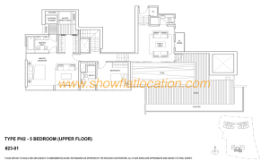 Skyline Residences Floor Plan - 5 bedroom (1) Upper Floor