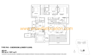 Skyline Residences Floor Plan - 5 bedroom (2) Lower Floor (2)