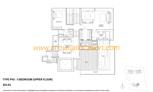 Skyline Residences Floor Plan - 5 bedroom (2) Upper Floor