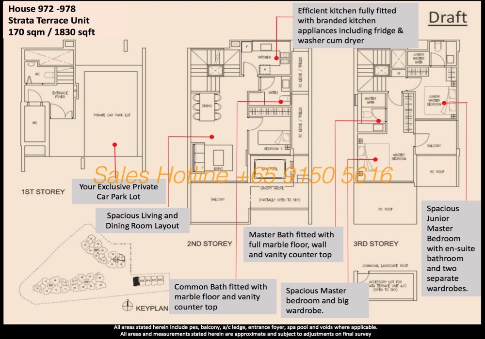Stars of Kovan Floor Plan - Terrace