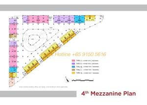 T-Space Floor Plan - 4th Storey Mazzanine