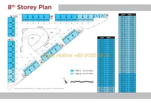 T-Space Floor Plan - 8th Storey