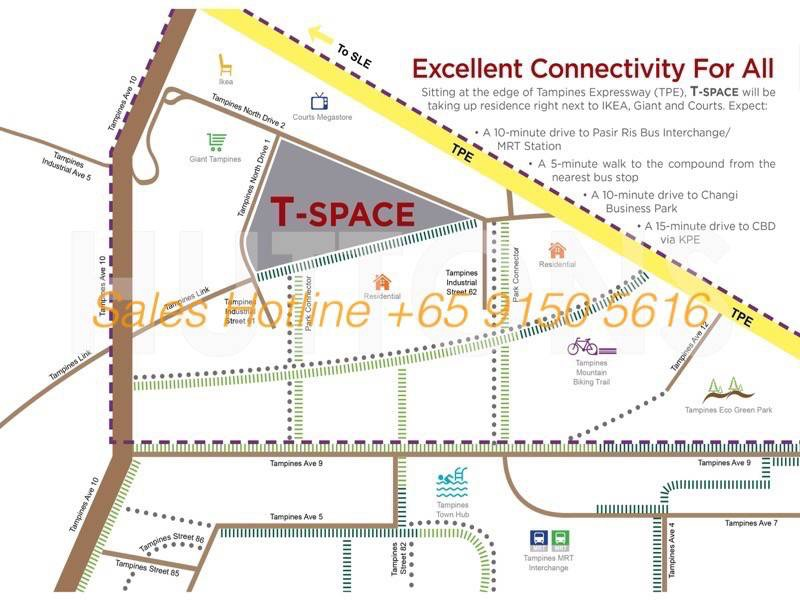 T-Space Tampines - Location Map