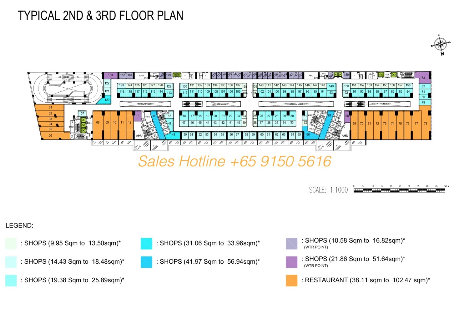The Bridge Camobodia - Retail Site Plan 2nd & 3rd Floor