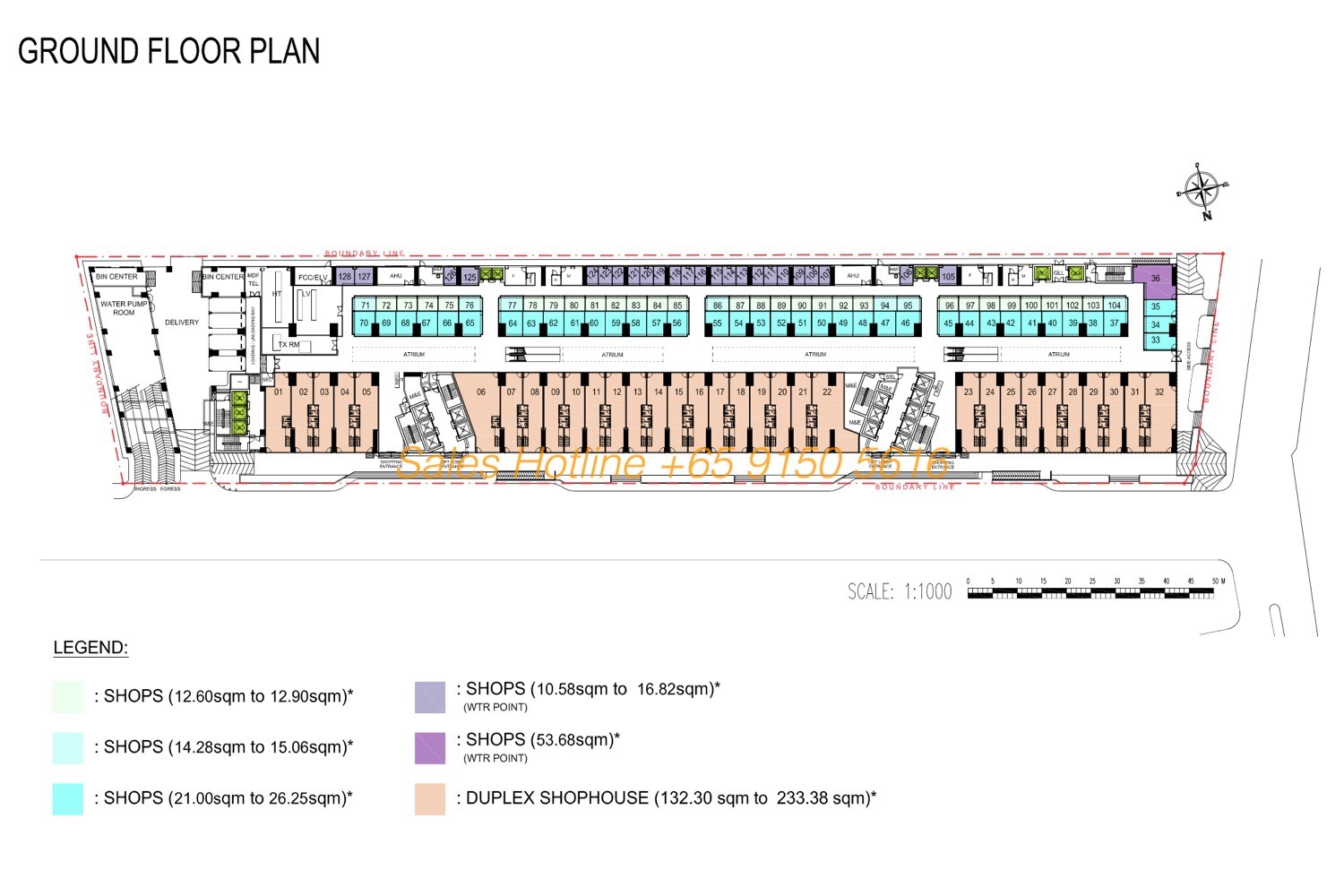 The Bridge Camobodia - Retail Site Plan Ground Floor