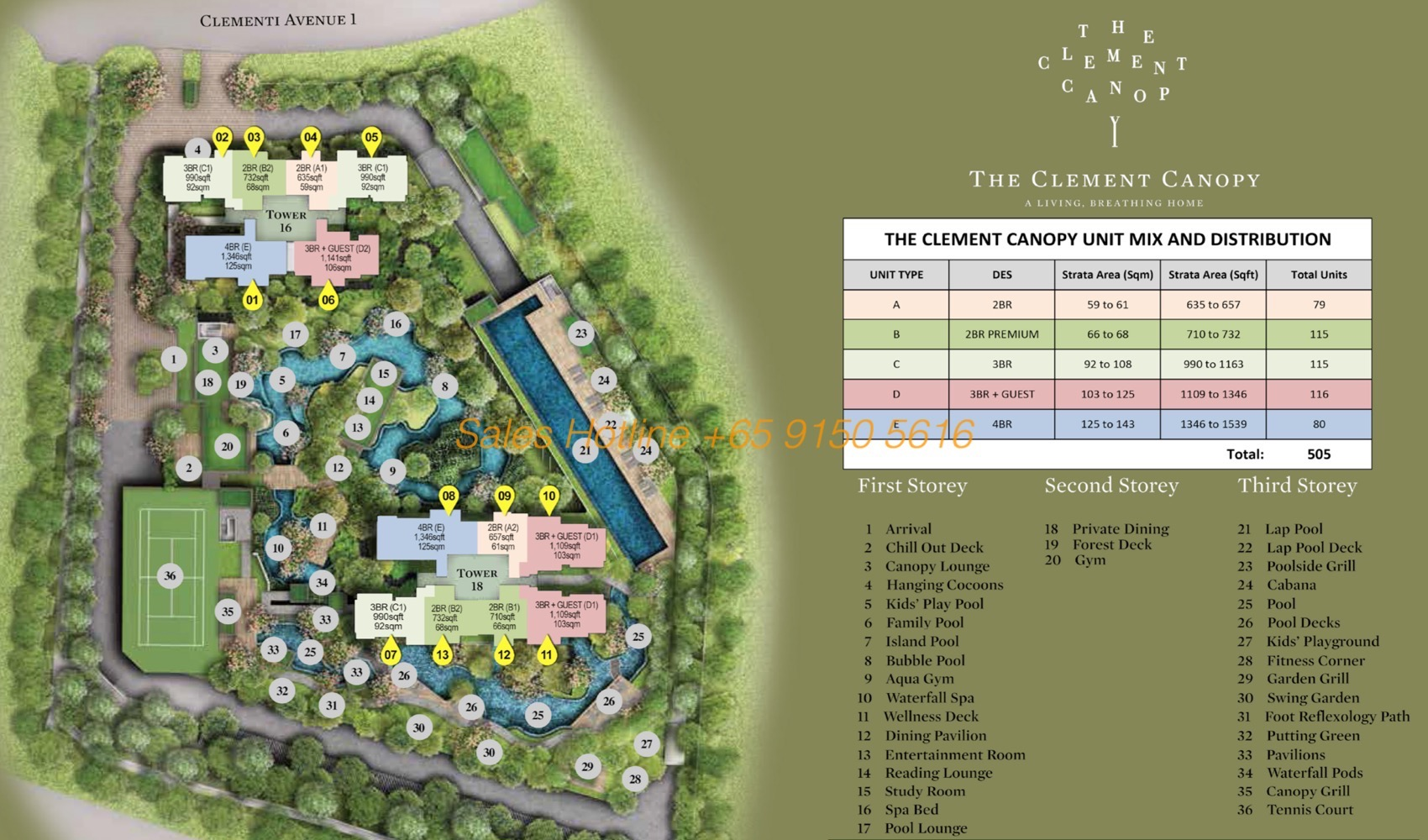 The Clement Canopy - Siteplan
