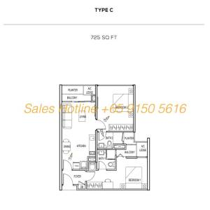 The Colony Floor Plan - Type C
