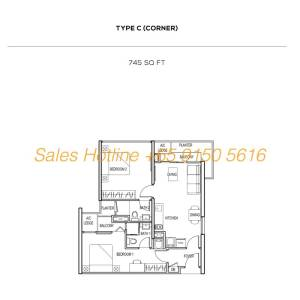 The Colony Floor Plan - Type C (Corner)
