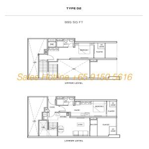 The Colony Floor Plan - Type D2