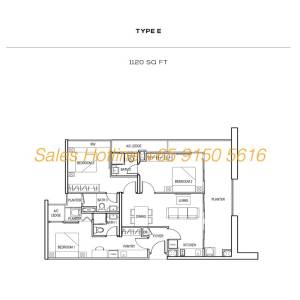 The Colony Floor Plan - Type E