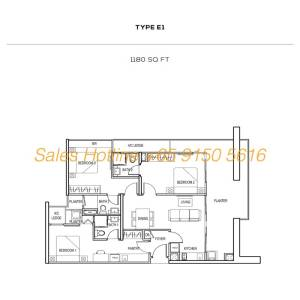 The Colony Floor Plan - Type E1