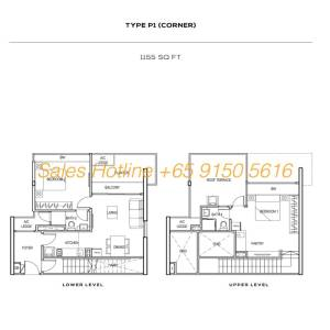 The Colony Floor Plan - Type P1 (Corner)