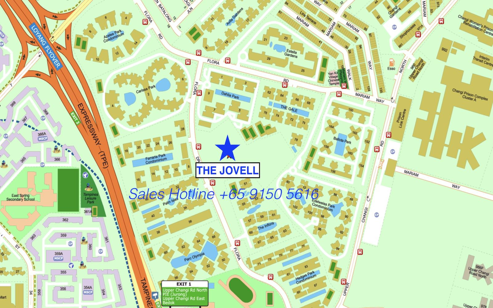 The Jovell Condo - Location Map