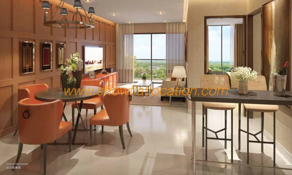 The Peak Cambodia Living Dining Room