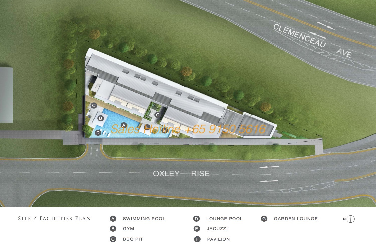 The Rise @ Oxley - Site plan