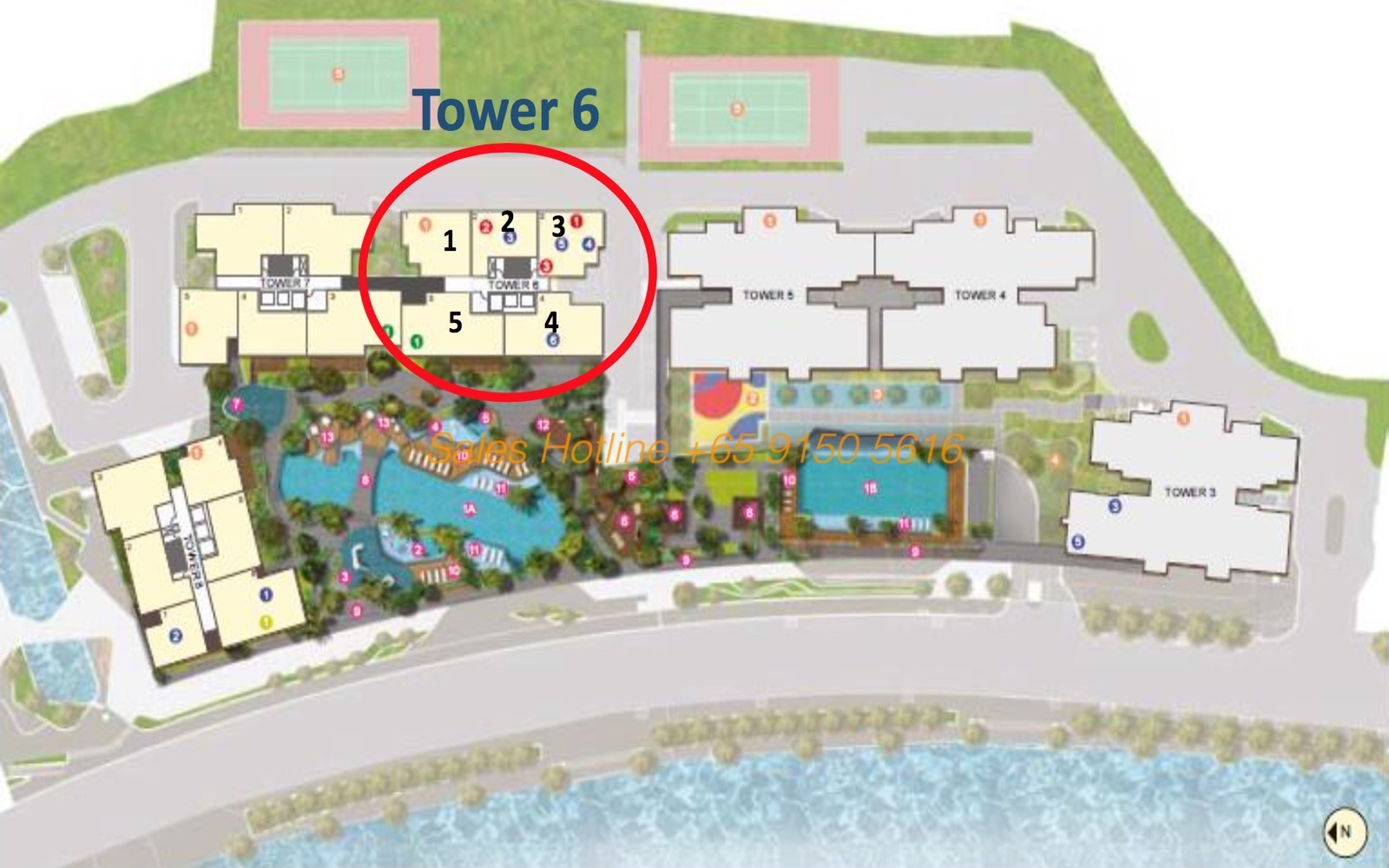 The View at Riviera Point Site Plan Tower 6