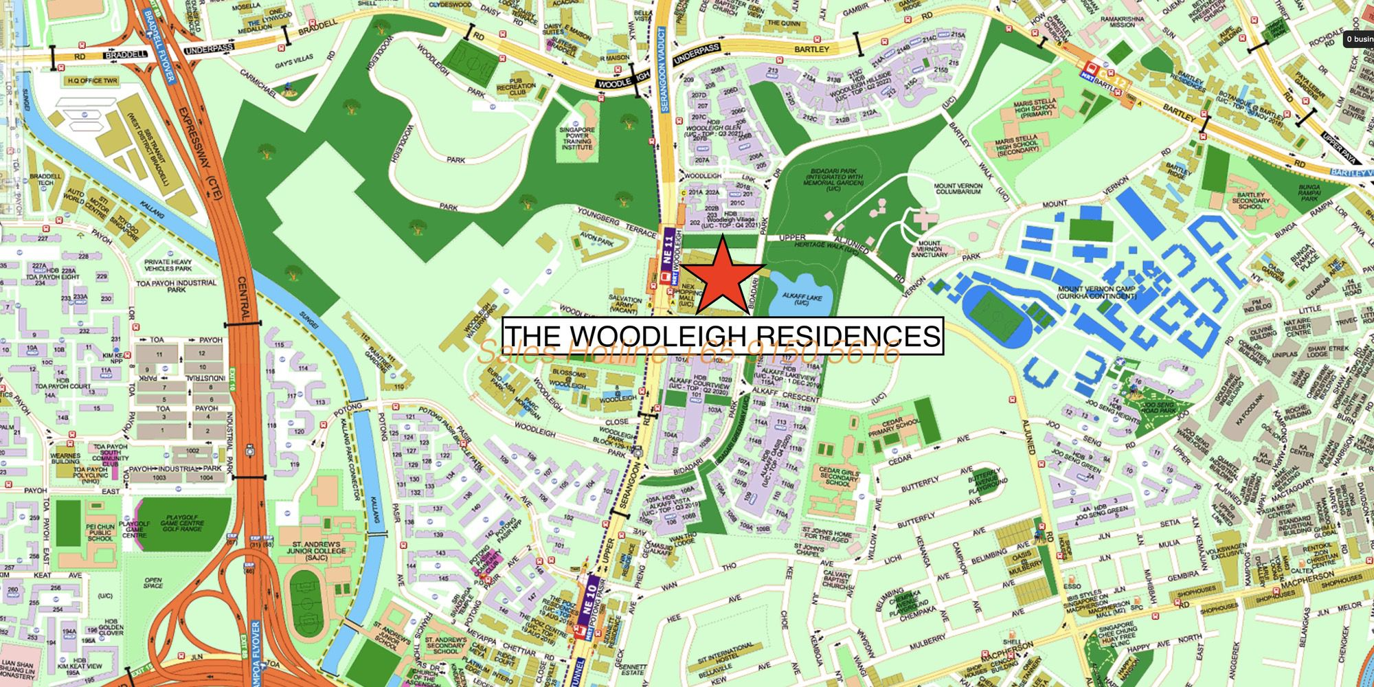The Woodleigh Residences Location Map