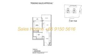 Thomson Impressions Floor Plan - 1 Bedroom Type A1