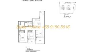 Thomson Impressions Floor Plan - 2 Bedroom Type B1