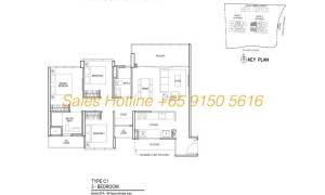 Thomson Impressions Floor Plan - 3 Bedroom Type C1