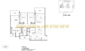 Thomson Impressions Floor Plan - 3 Bedroom Type C2