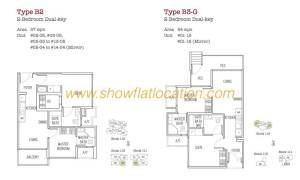 Trilive Floor Plan - 2 Bedroom Dualkey