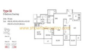 Trilive Floor Plan - 3 Bedroom Dualkey 3