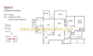 Trilive Floor Plan - 3 Bedroom Dualkey