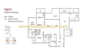 Trilive Floor Plan - 4 Bedroom Dualkey 2