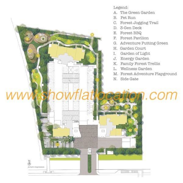 Trilive Site Plan - Garden Living @ Level 1