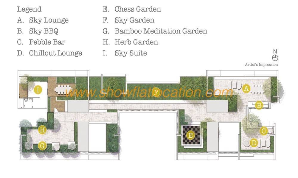 Trilive Site Plan - Sky Living @ Roof Terrace