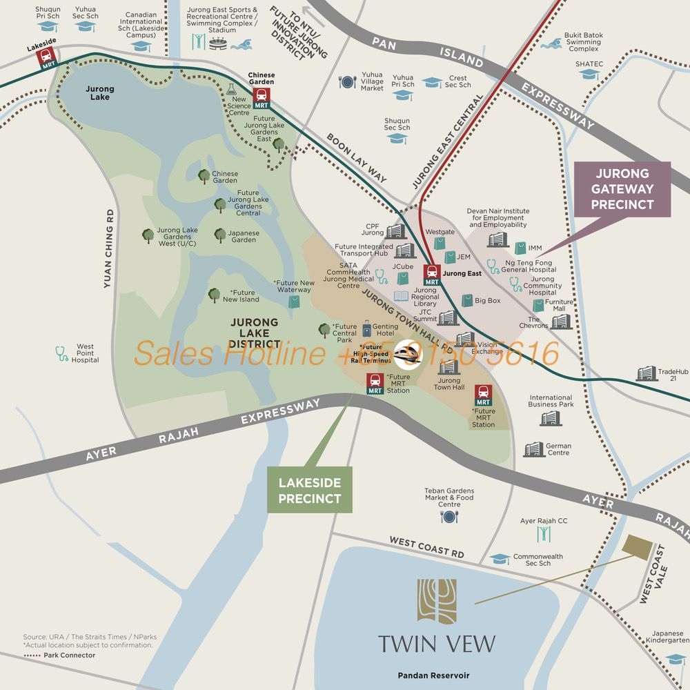 Twin Vew Location Map