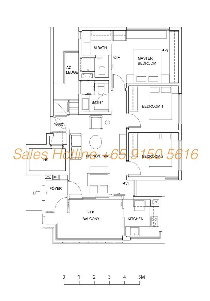 Five Nine Condo Floor Plan - Type A1