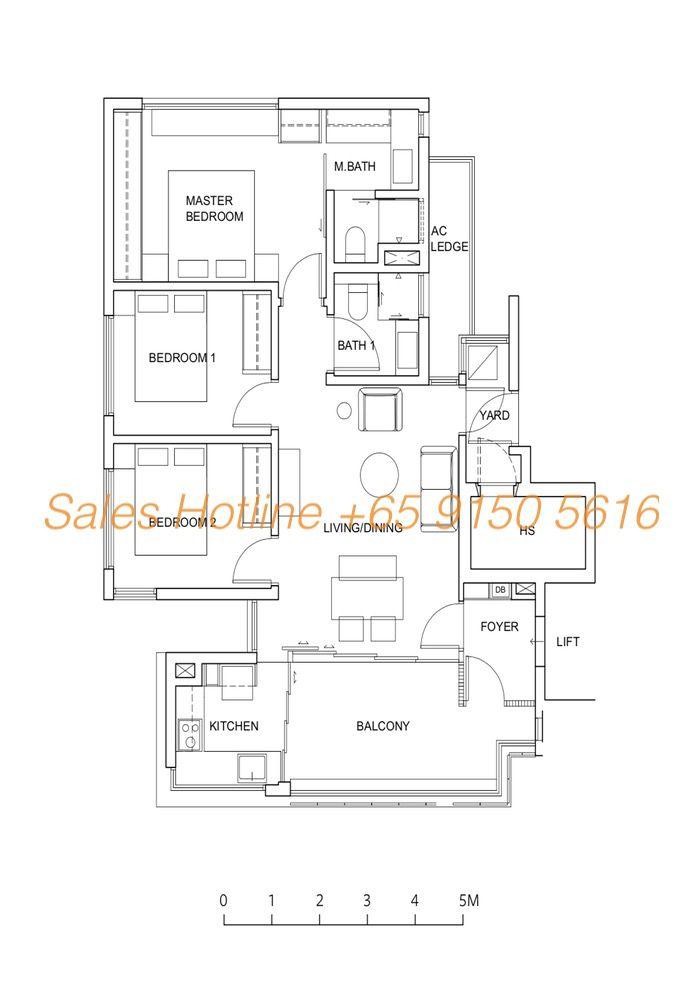 Five Nine Condo Floor Plan - Type A2