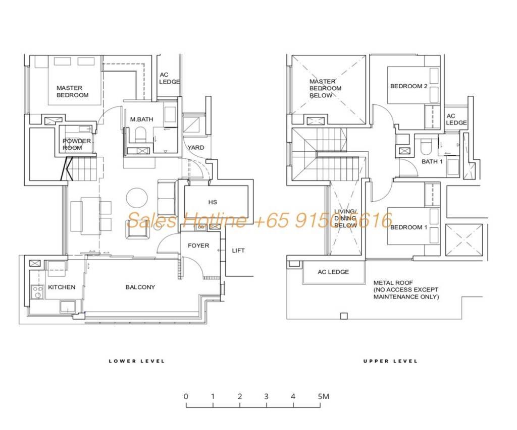 Five Nine Condo Floor Plan - Type C1