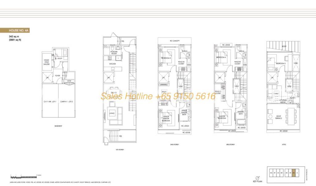 Jazz Residences Floor Plan - House No. 4A