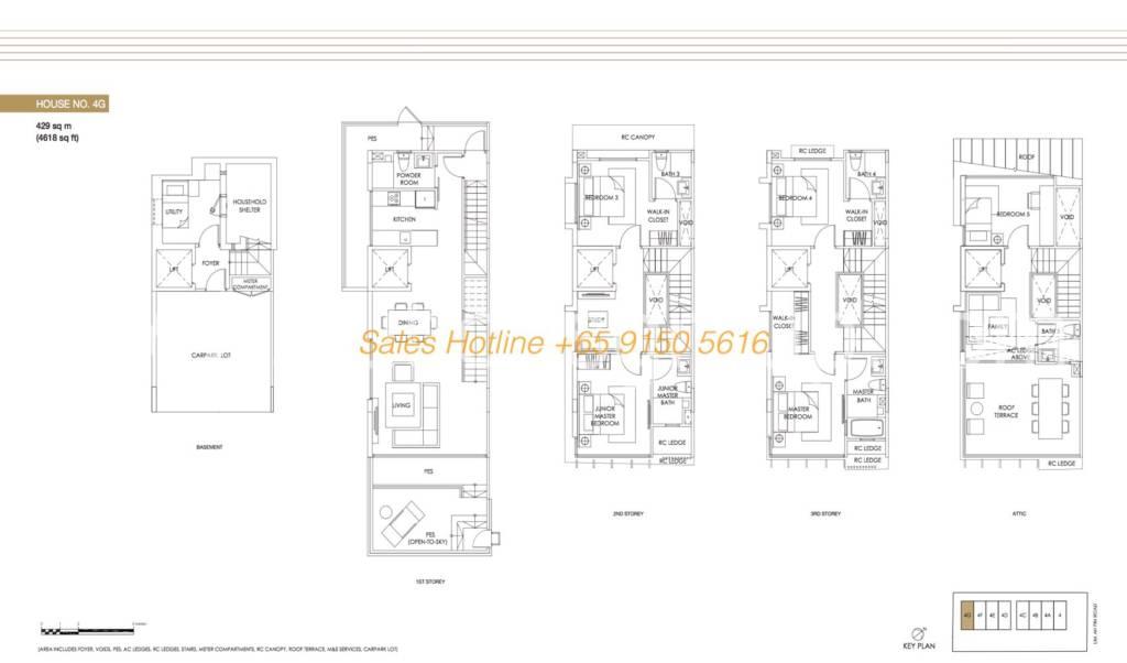 Jazz Residences Floor Plan - House No. 4G