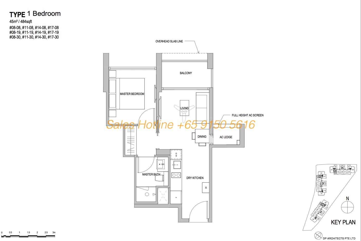 Park Place Residences Floor Plan - 1 Bedroom