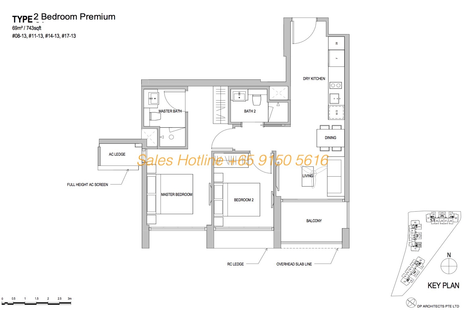 Park Place Residences Floor Plan - 2 Bedroom Premium