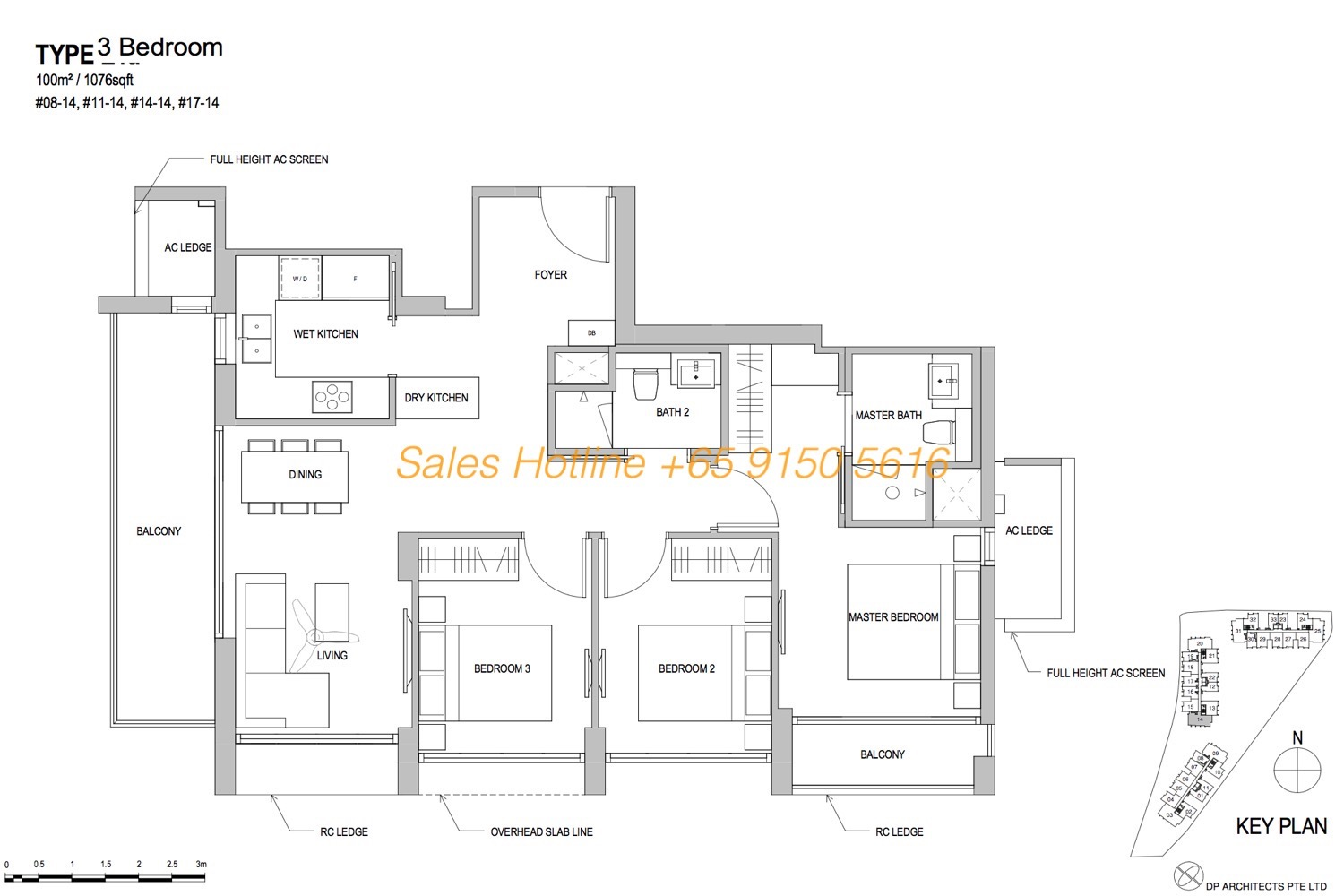 Park Place Residences Floor Plan - 3 Bedroom