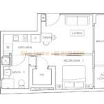 Rezi 35 Floor Plan - 1 Bedroom