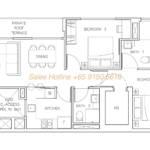 Rezi 35 Floor Plan - 3 Bedroom