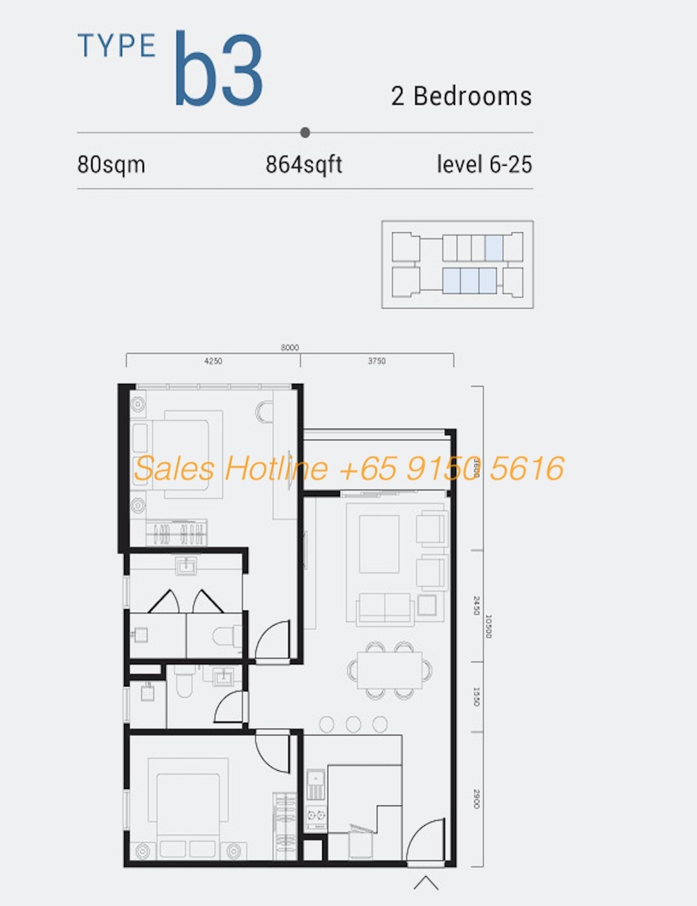Shama Medini - 2 Bedroom Type B3