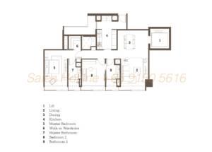 TwentyOne Angullia Park Floor Plan - 2 Bedroom Type A1