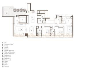 TwentyOne Angullia Park Floor Plan - 3 Bedroom Type B2